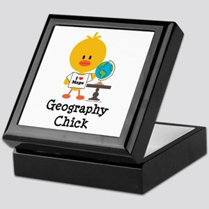 Geography Chick Keepsake Box